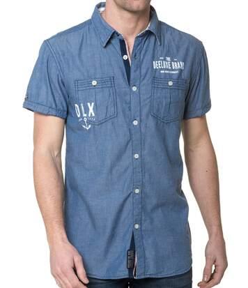 Chemisette Homme Bleu Jeans