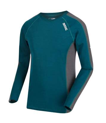 Regatta Great Outdoors Mens Beru Base Layer Shirt (Deep Teal/Magnet Grey) - UTRG2861