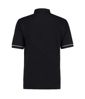 Kustom Kit Mens Button Down Contrast Short Sleeve Polo Shirt (Navy/White) - UTBC2687