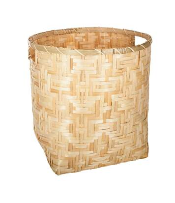 Atmosphera - Lot de 3 paniers ronds bambou naturel