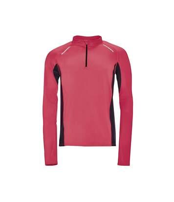 SOLS Mens Berling Long Sleeve Zip Neck Sports Top (Neon Coral) - UTPC2602