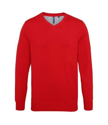 Asquith & Fox Mens Cotton Rich V-Neck Sweater (Charcoal) - UTRW5188