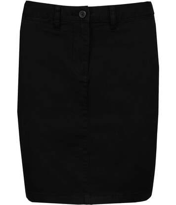 Jupe chino femme - K762 - noir