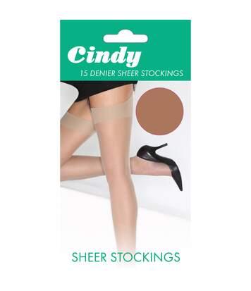 Cindy - Bas Pour Porte-Jarretelles 15 Deniers (1 Paire) - Femme (Américain) - UTLW110
