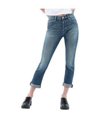 Jeans Taille Haute Bleu Femme Teddy Smith Zoe