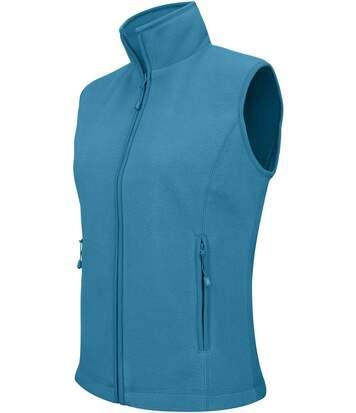 Gilet sans manches micro polaire femme - K906 - bleu tropical