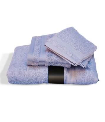 Parure de bain 5 pièces ROYAL CRESENT Bleu Lavande 650 g/m2