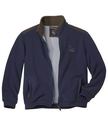 Men's Navy Rocky Mountains Fleece Jacket with Sherpa Lining