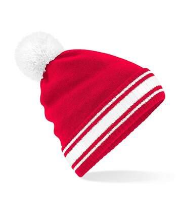 Bonnet stadium - Adulte - B472 - rouge et blanc