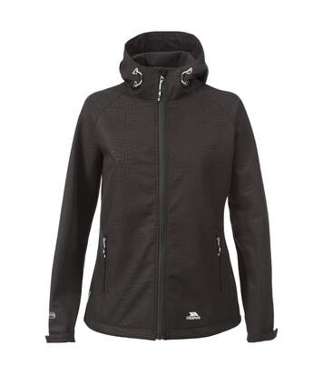 Trespass Womens/Ladies Cheska Snakeprint Waterproof Softshell Jacket (Black) - UTTP3380