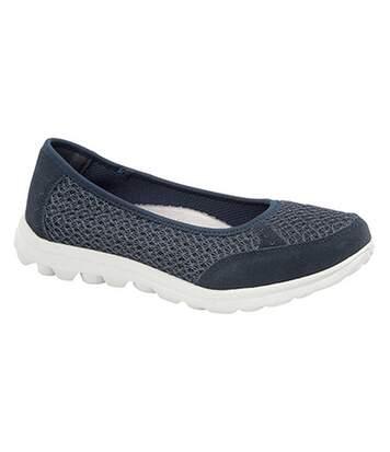 Boulevard - Chaussures Ouvertes À Mémoire De Forme - Femme (Bleu marine) - UTDF1338