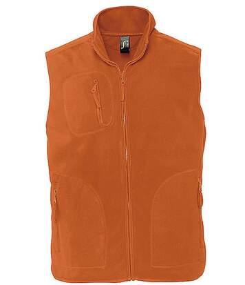 Gilet sans manches bodywarmer polaire unisexe - 51000 - orange