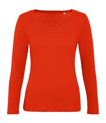 B&C - T-Shirt Manches Longues Inspire - Femme (Rouge orangé) - UTBC4001