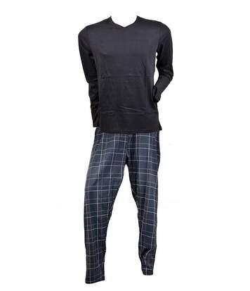 Pyjama Homme RODIER en Coton -Chaleur, Douceur et confort- 0228 Noir Col V
