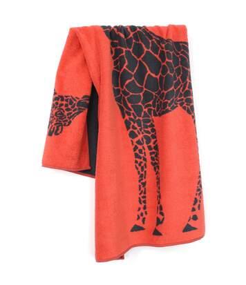 Drap de plage 75x150 cm KENYA Orange Girafe