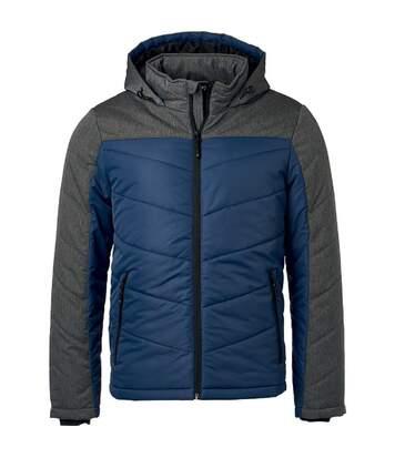 Veste matelassée à capuche - doudoune - JN1134 - bleu marine - homme