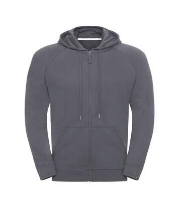 Russell Mens HD Zip Hooded Sweatshirt (Convoy Grey) - UTPC3136