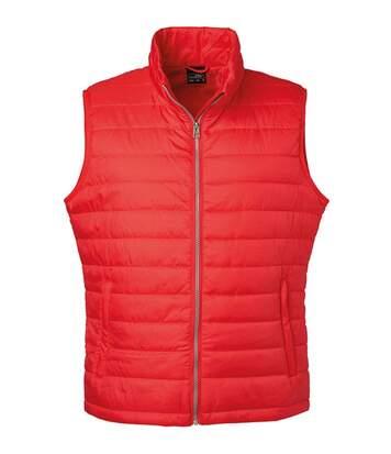 Bodywarmer gilet sans manches - JN1136 - rouge - Homme