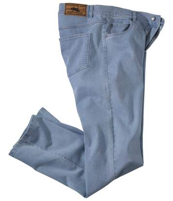 Lichtblauwe regular stretch jeans