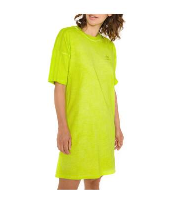 Robe vert anis femme Adidas