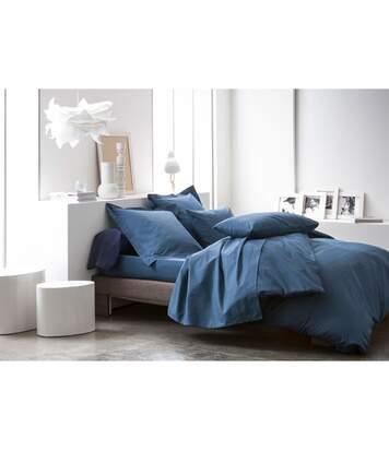 Parure de lit Ciel d'orage - 100% coton - 220 x 240 cm - Bleu