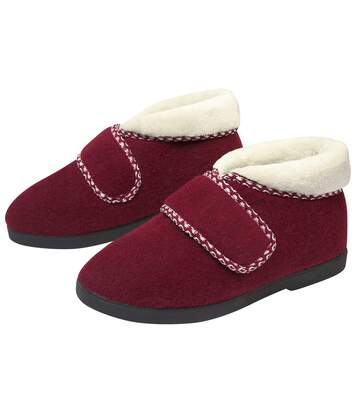 Women's Red Boot Slippers - Faux Fur Lining