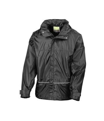 Result Mens Waterproof Windproof 2000 Coach Jacket (Black) - UTBC880
