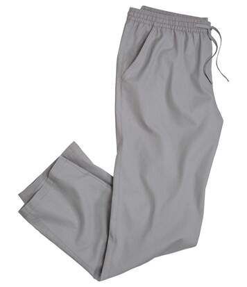 Men's Grey Casual Trousers