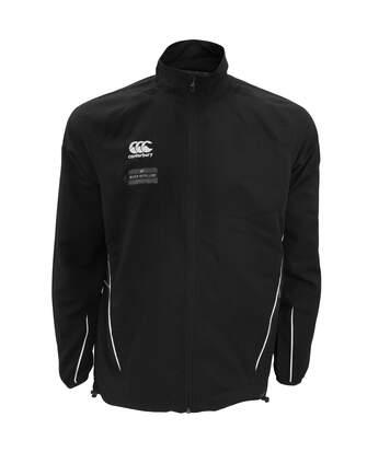 Canterbury Mens Team Athletic Water Resistant Track Jacket (Black/White) - UTPC2475