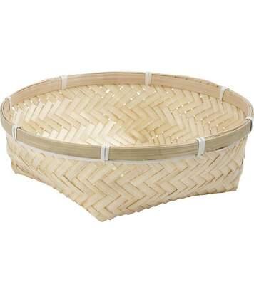 Corbeille ronde en bambou naturel