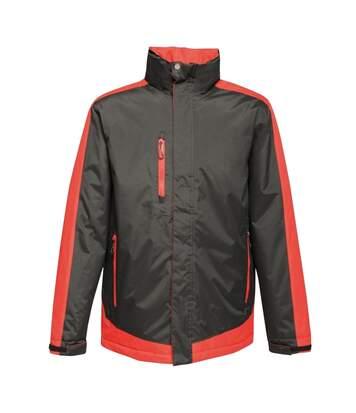 Regatta Mens Contrast Full Zip Jacket (Graphite Black/Raspberry Red) - UTRG3743