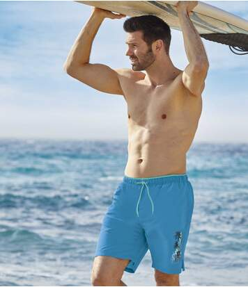 Men's Pacific Surf Swim Shorts - Blue