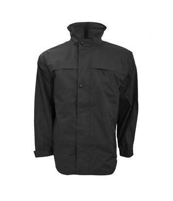 Result Mens Mid-Weight Multi-Function Waterproof Windproof Jacket (Black/Grey) - UTBC929