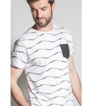 T-shirt imprimé géométrique KEEPER White