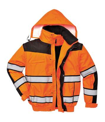 Portwest Mens High Visibility Classic All Weather Bomber Jacket (Pack of 2) (Orange/ Black) - UTRW6879