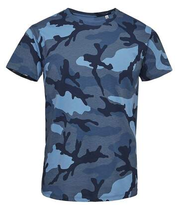 T-shirt manches courtes camouflage HOMME - 01188 - bleu army camo
