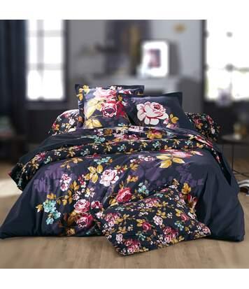 Parure de lit 140x200 cm 100% coton OBSESSION violet Figue 2 pièces avec impression fixé-lavé