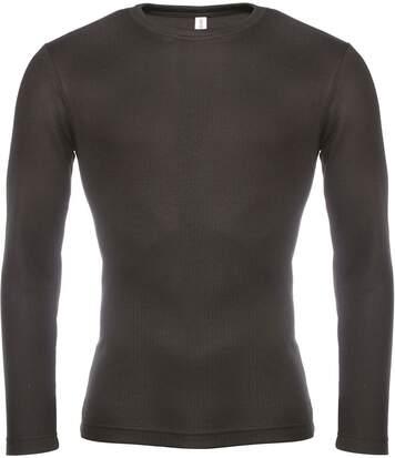 Maillot de corps manches longues homme K801 - noir
