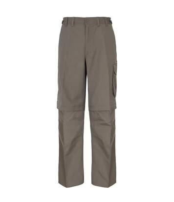 Trespass Mens Mallik Convertible Water Repellent Cargo Trousers (Bark) - UTTP242