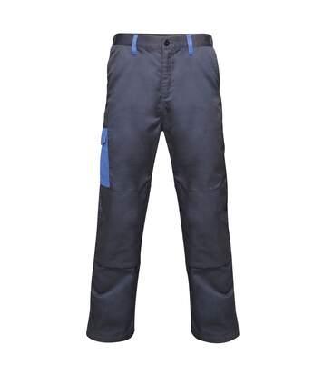Regatta Mens Contrast Cargo Work Trousers (Navy/ New Royal Blue) - UTRW6515