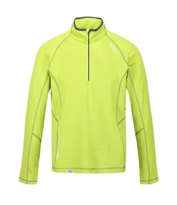 Regatta Mens Yonder Quick Dry Moisture Wicking Half Zip Fleece Jacket (Lime Punch) - UTRG3786