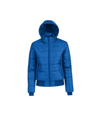B&C Womens/Ladies Superhood Padded Bomber Jacket (Royal Blue/ Neon Orange Lining) - UTRW4825
