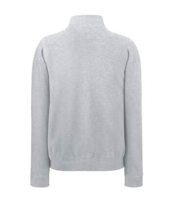 Fruit Of The Loom Mens Full Zip Sweat Jacket (Heather Grey) - UTBC370