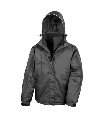 Result Mens 3 In 1 Softshell Waterproof Journey Jacket With Hood (Black / Black) - UTRW3694