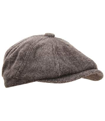 Mens 8 Panel Wool Blend Newsboy Cap (Brown) - UTHA496
