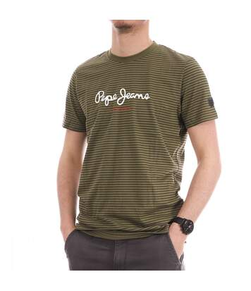 T-shirt Kaki Homme Pepe Jeans Wyatt