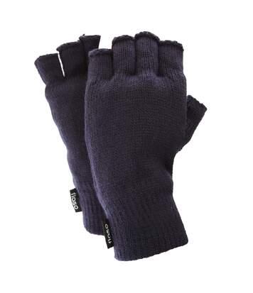 FLOSO Mens Thinsulate Thermal Fingerless Gloves (3M 40g) (Navy) - UTGL355