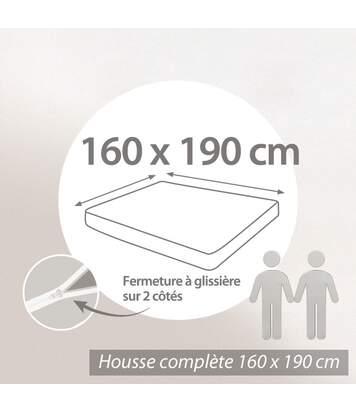 Housse de matelas imperméable Céline 160x190cm matelas 16 à 20cm