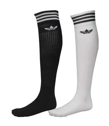Lot 2 paires chaussettes Noires Blanches homme/femme ADIDAS