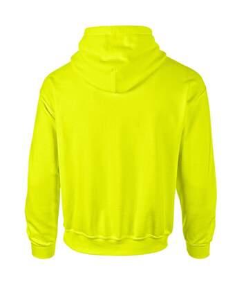 Gildan Heavyweight DryBlend Adult Unisex Hooded Sweatshirt Top / Hoodie (13 Colours) (New Safety Green) - UTBC461
